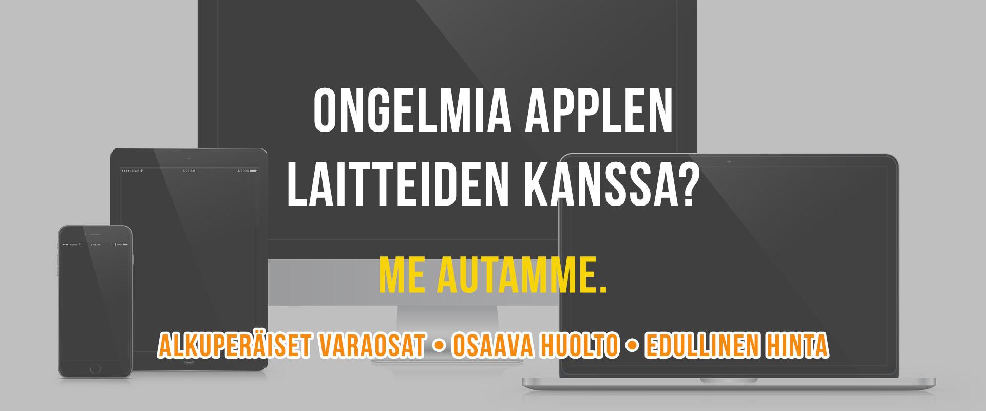 Ongelmia Mac-tietokoneen, iPhonen tai iPadin kanssa?